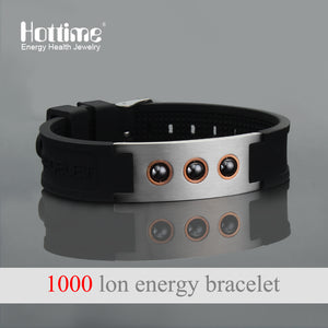 ottime Multicolor Power 1000 ions Sports Titanium Steel Bracelet Wrist Band Improve Sleeping 4in1 Energy Bracelets Bangle 20010