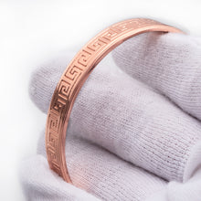 Hottime Magnetic Pure Copper Energy Magnetic Healthy Bracelet Bangle Healthy Jewelry Fitness Gold Color Men women's bracelet 60027
