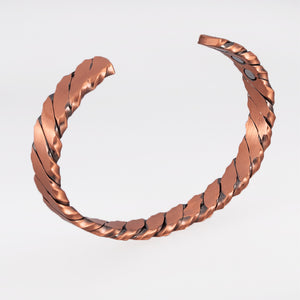 Hottime Magnetic Copper Bracelets Vintage Twisted Open Cuff Bangle Health Energy Coppper Bracelets & Bangles for Men Women