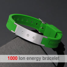Hottime  High Quality 4 in1 Energy Power Banlance Wristbands Silicone Fitness Size Can Adjustable Wristband Bracelets Bangles 20003