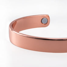Hottime Rose Gold cuff men magnets bangle health magnetic pure copper bracelet bangles for men 60026