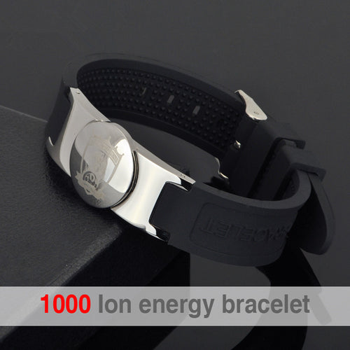 Hottime Brand Design Men Fashion Health Power Energy Balance Bracelet Bangle 316L Stainless Steel Bio Magnetic Golf Bracelet 20006