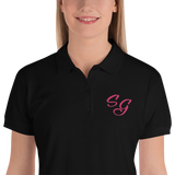 - Soldier Girl Embroidered Polos - SZERDS