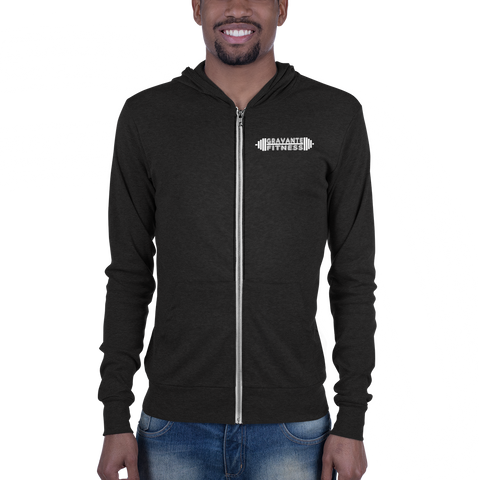 - Gravante Fitness Triblend Lightweight Zip Hoodie - SZERDS