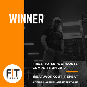 WINNER of the #FitTrackAustraliaFirstToFifty2019⁣ challenge