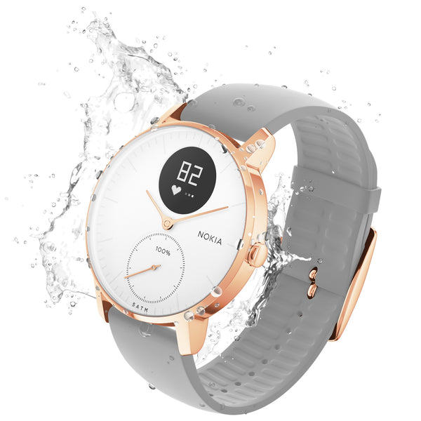 Hybrid Smartwatches Australia at FitTrack - Withings / Nokia Steel HR - Rose Gold, Waterproof
