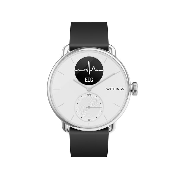 Withings ScanWatch - Hybrid Smartwatch - 38mm White - FitTrack Australia