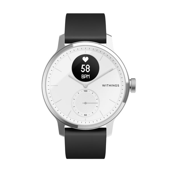 Withings ScanWatch - Hybrid Smartwatch - 42mm White - FitTrack Australia
