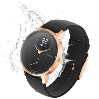 Water Resistant Withings / Nokia HR Steel Hybrid Rose Gold / Black Fitness Tracker - FitTrack (Fitness Watches Australia)