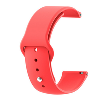 Red - Silicon 18mm Quick Release Sports Band for Withings Steel & Steel HR & Move (36mm)