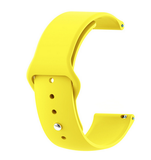 Yellow - Silicon 18mm Quick Release Sports Band for Withings Steel & Steel HR & Move (36mm)