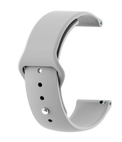Grey - Silicon 18mm Quick Release Sports Band for Withings Steel & Steel HR & Move (36mm)