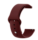 Wine Red - Silicon 18mm Quick Release Sports Band for Withings Steel & Steel HR & Move (36mm)