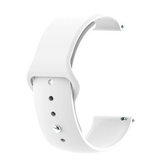 White - Silicon 18mm Quick Release Sports Band for Withings Steel & Steel HR & Move (36mm)