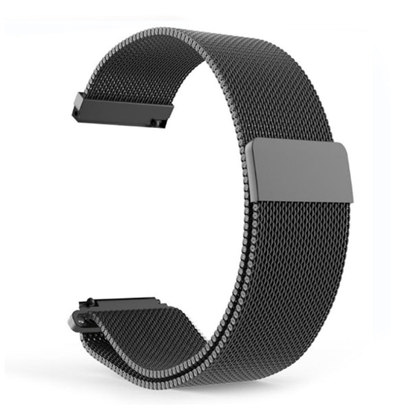 Black 20mm Stainless Steel Magnetic Milanese Loop Watch Band for Withings Steel HR Sport (40mm), Scanwatch (42mm) or Galaxy Watch (42mm)