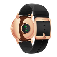 The backing of a Withings / Nokia HR Steel Hybrid Rose Gold / Black Fitness Tracker - FitTrack (Fitness Watches Australia)