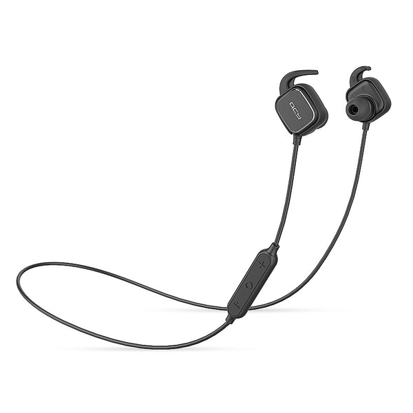 QCY QY12 Black - Bluetooth 4.1 Magnetic Sports Headphones - FitTrack Australia