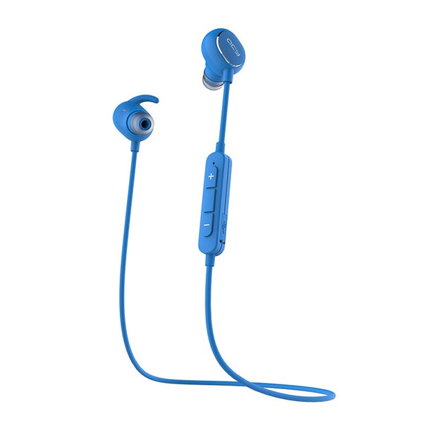 QCY QY19 Blue - Bluetooth 4.1 Sports Headphones, IPX4 Sweatproof - FitTrack Australia