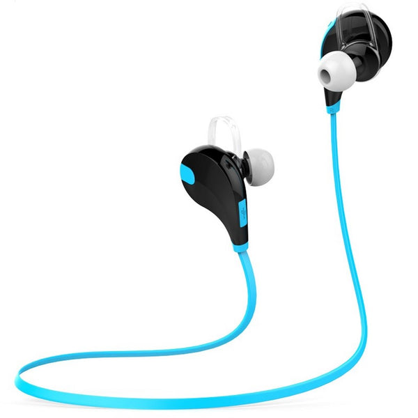 QCY QY7 Black / Blue -  Bluetooth 4.1 Sports Headphones - FitTrack Australia