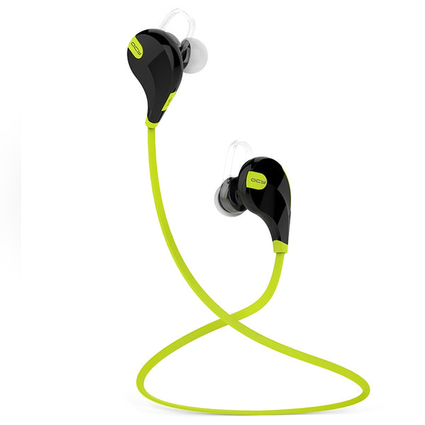 QCY QY7 Black / Yellow -  Bluetooth 4.1 Sports Headphones - FitTrack Australia