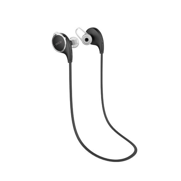 QCY QY8 Black - Bluetooth 4.1 Magnetic Sports Headphones - FitTrack Australia