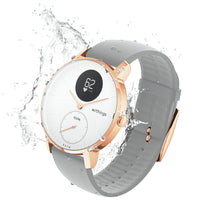 Water Resistant Withings HR Steel Hybrid Rose Gold / Grey Fitness Tracker - FitTrack Australia