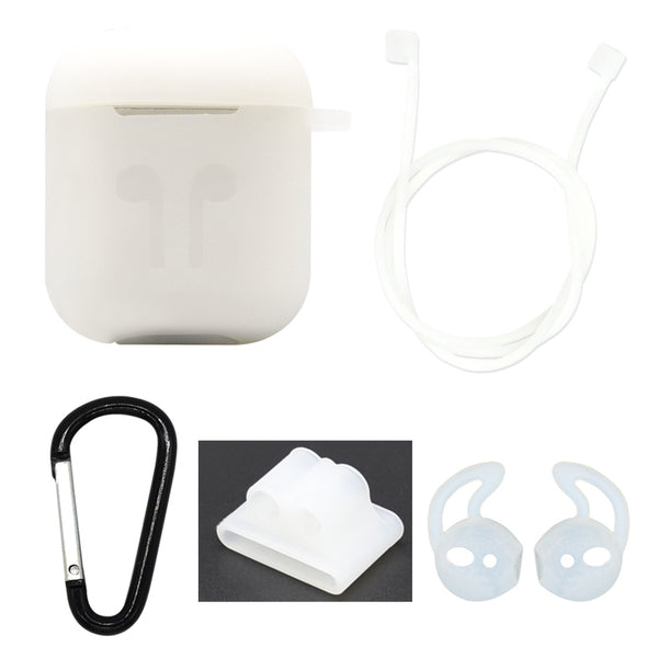 Clear Edition Apple AirPods 5-Piece Silicon Accessory Kit - FitTrack Australia
