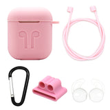 Pink Edition Apple AirPods 5-Piece Silicon Accessory Kit - FitTrack Australia