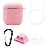 Pink / White Edition Apple AirPods 5-Piece Silicon Accessory Kit - FitTrack Australia