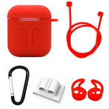 Red Edition Apple AirPods 5-Piece Silicon Accessory Kit - FitTrack Australia