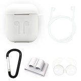 White Edition Apple AirPods 5-Piece Silicon Accessory Kit - FitTrack Australia