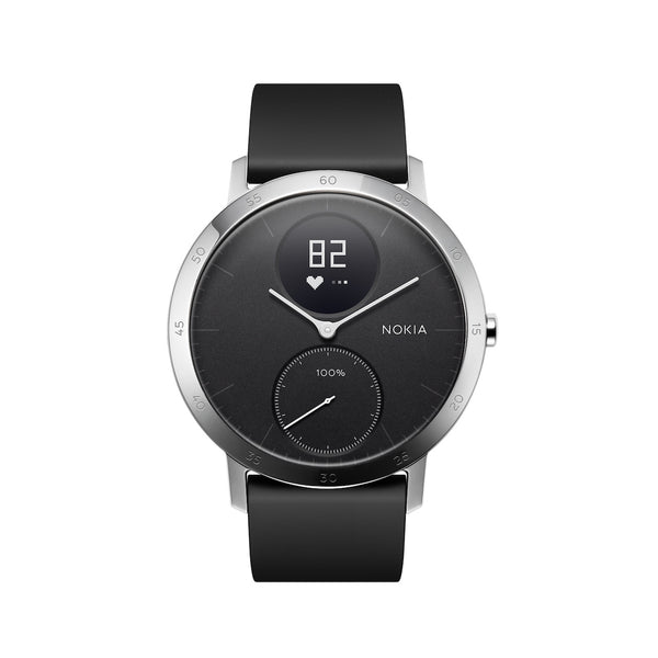 Withings / Nokia HR Steel Hybrid Black 40mm Fitness Tracker - FitTrack (Fitness Watches Australia)