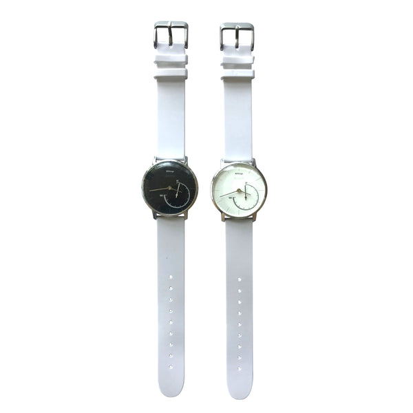 White Silicon 18mm Quick Release Strap for Withings Steel & Steel HR (36mm) - FitTrack Australia