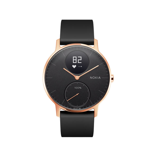 Withings / Nokia HR Steel Hybrid Rose Gold / Black Fitness Tracker - FitTrack (Fitness Watches Australia)