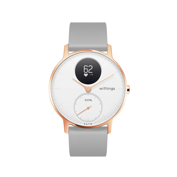 Withings HR Steel Hybrid Rose Gold / Grey Fitness Tracker - FitTrack Australia