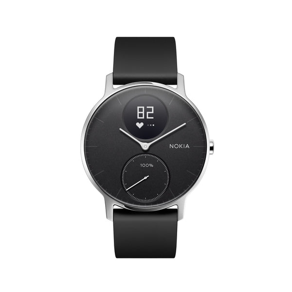 Withings / Nokia HR Steel Hybrid Black Fitness Tracker - FitTrack (Fitness Watches Australia)