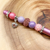Pastel Heart Beaded Planner / Journaling Pen