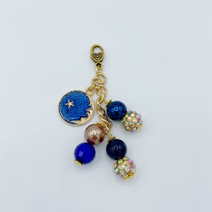 Celestial Moon and Stars Planner Charm