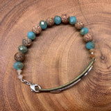 Follow Your Arrow Bracelet - Turquoise and Brown Agate