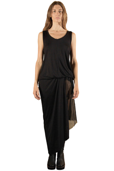Draped Drawstring Dress
