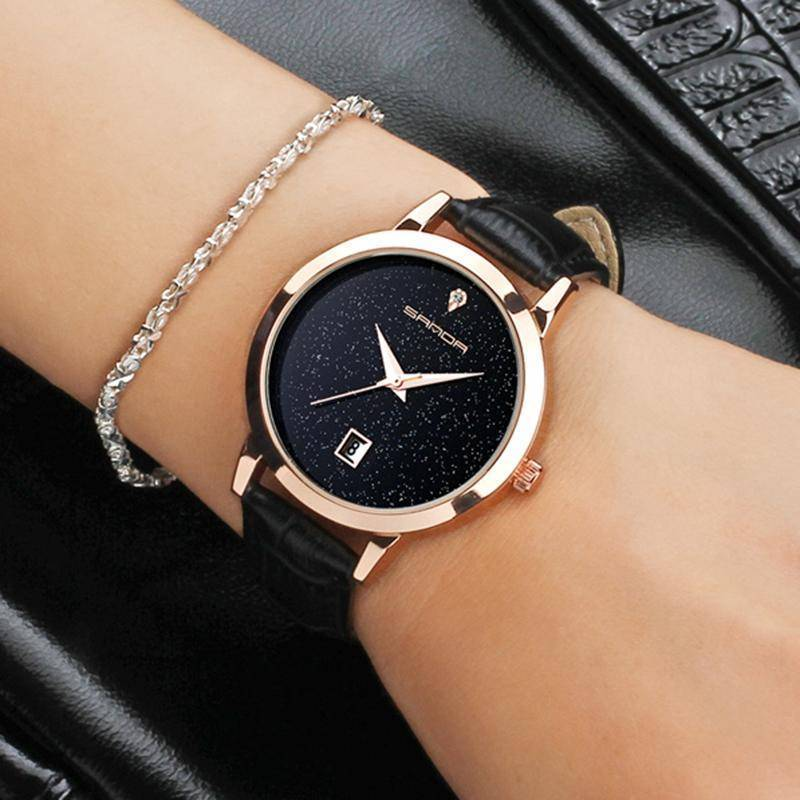 Luxury Golden Leather WomenWatch