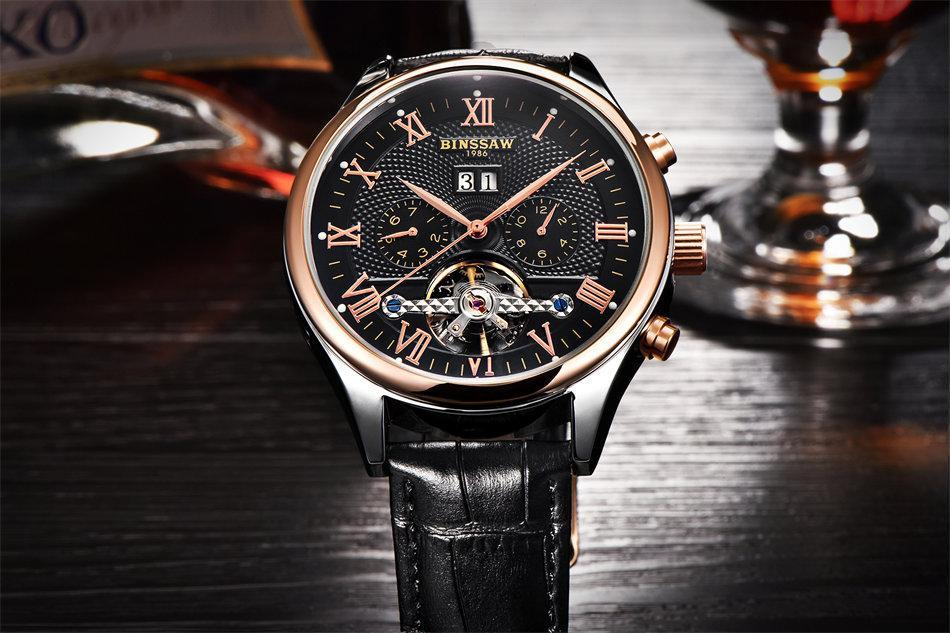 Big Designer Automatic Mechanical Male Wristwatch