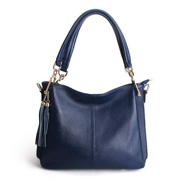Tassel Women Leather Crossbody bag