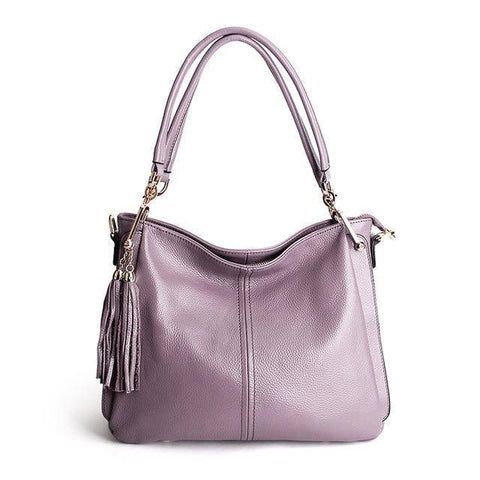 Image of Tassel Women Leather Crossbody bag