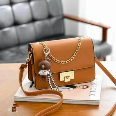 Image of Small Flap Casual Bear Strap Chain Bag