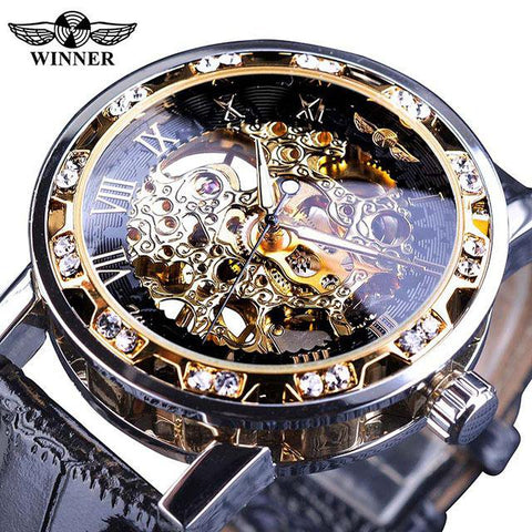 Diamond Mechanical Wrist Watch