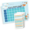 Boys Potty Chart - Range 01 Potty Chart Angus & Izzy