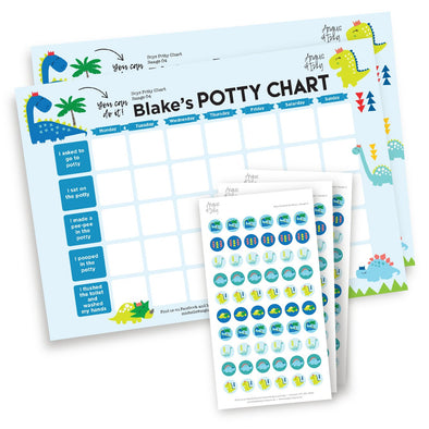 Boys Potty Chart - Range 04 Potty Chart Angus & Izzy