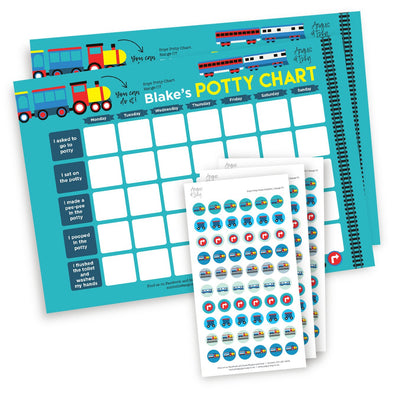 Boys Potty Chart - Range 07 Potty Chart Angus & Izzy