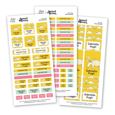 H&G Yellow Aardvark Sticker Bundle H&G Bundles Angus & Izzy
